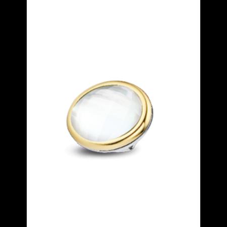Tirisi Moda TIRISI  Schuif zilver met 18 karaat geelgoud met parelmoer facet TM6105KR(2T)