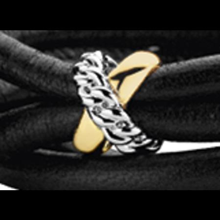 Tirisi Moda TIRISI  Sluiting zilver met 18 karaat geelgouden /zilveren gourmet kruis TM2159(2T) -