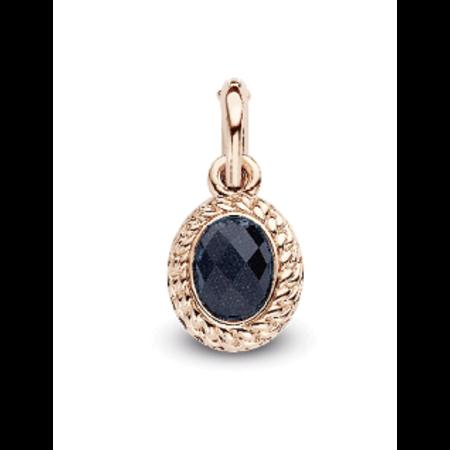 Tirisi Moda TIRISI Bedel zilver met 18k roségoud en een blauwe crystal doublet TM6142NA(2P)