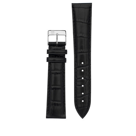 Frederique Constant Frederique Constant horlogeband 20-18MM zwart zonder gesp FCS-B20X18