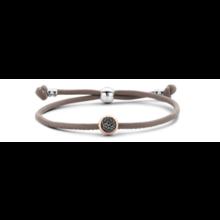 Tirisi Moda TIRISI Armband zwart leer met zilver en 18k roségoud en diamant TM2133BL-2P - Copy - Copy - Copy - Copy - Copy - Copy