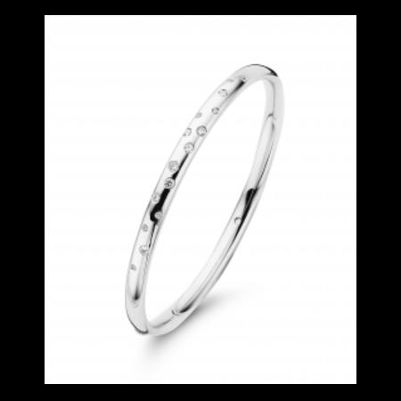 Fjory FJORY Armband 14k witgoud 5mm ovaal met 0.34ct diamant 50-ASTER-034