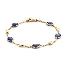 Mrs.Janssen Mrs.Janssen Armband 14k Geelgoud met blauw saffier 606868