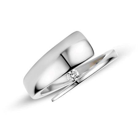 R&C R&C Ring Carole 14k Geelgoud met 0.03ct P/W diamant RIN1701-3-GW - Copy - Copy - Copy - Copy - Copy