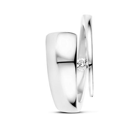 R&C R&C Ring Alix 14k Witgoud met 0.09ct SI diamant RIN2011-WG - D