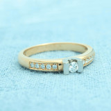 R&C R&C ring geelgoud 14k diamant RIN0016M-Pave-D-0,26