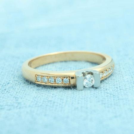 R&C R&C ring geelgoud 14k diamant RIN0016M-Pave-D-0,26