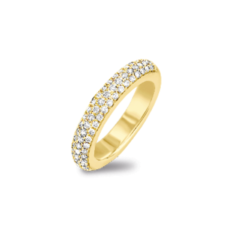 HuisCollectie HuisCollectie Ring 14k geelgoud pavé 0.52 W/SI 18254