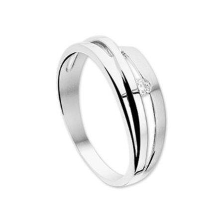 HuisCollectie HuisCollectie ring witgoud 14k met diamant 0,05ct. 02556