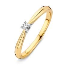 HuisCollectie HuisCollectie ring geelgoud 14k met diamant 0,06ct. 413910