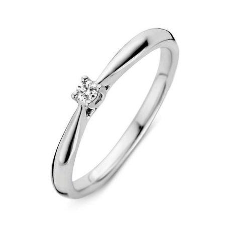 HuisCollectie HuisCollectie ring witgoud 14k met diamant 0,06ct. 214897
