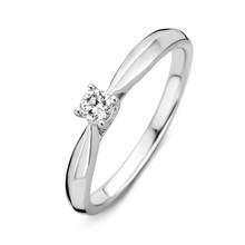 HuisCollectie Mrs.Janssen Ring witgoud 14k met diamant 0,16ct 601491