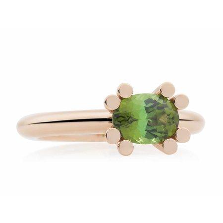 Bron BRON Ring Phlox 18k Roségoud met groene toermalijn 8RR4874GT
