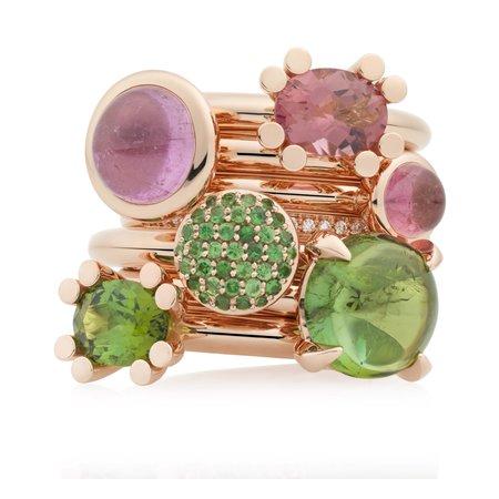 Bron BRON Ring Phlox 18k Roségoud met groene toermalijn en diamant 8RR4715GTBR - Copy - Copy