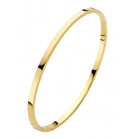 Fjory FJORY Armband 14k Geelgoud 2.5mm vierkant 40-A326102,5