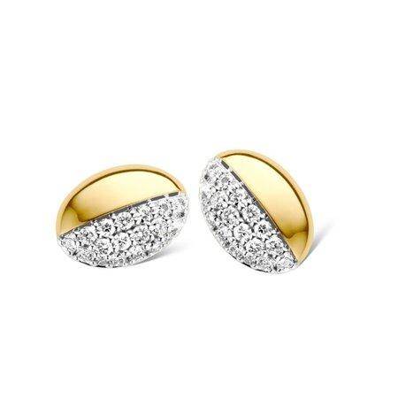 HuisCollectie HuisCollectie Oorstekers geelgoud 14k met diamant 0.30ct 606168