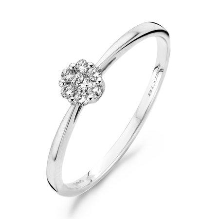 Blush Blush ring 14k witgoud  diamant 0.11 crt 1610WDI