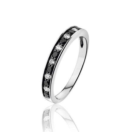 HuisCollectie HuisCollectie Ring Points 18k witgoud met 1.12ct G/Vsi diamant - Copy - Copy - Copy