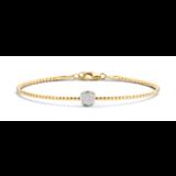 Tirisi Moda TIRISI Armband Amsterdam 18K Geelgoud met 0.15ct diamant TB2142D(2T)