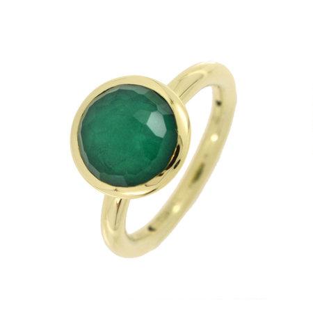 Tirisi Moda TIRISI Ring 18k Geelgoud met Smaragd Triplet TR9709EM
