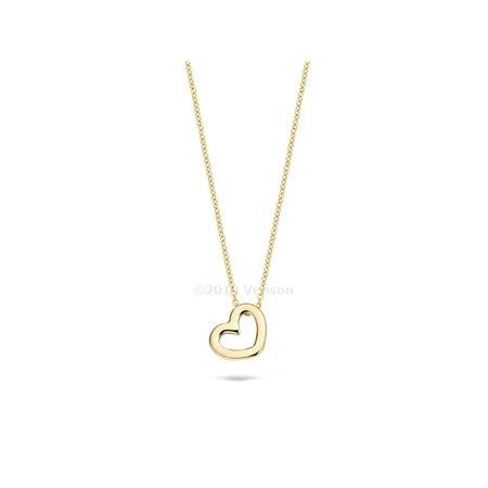 Blush Blush collier 14krt geelgoud met open hart 3081YGO