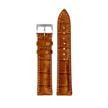 MeisterSinger MEISTERSINGER horlogeband 20MM Donker bruin met wit stiksel SG02W - Copy - Copy - Copy - Copy