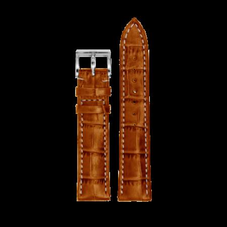 MeisterSinger MEISTERSINGER horlogeband 20MM Cognac wit stiksel SG03W