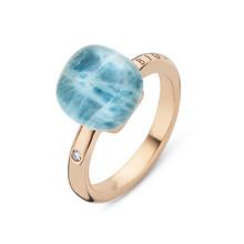 Bigli Bigli Ring Mini Sweety 18krt Roségoud met bergkristal met lichte apatiet-20R88Rcrapatit/l