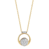 Tirisi Moda TIRISI Collier Amsterdam 18k Geelgoud met 0.21ct diamant TN2108D-2T