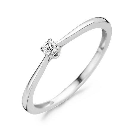 Blush Blush ring 14k witgoud  diamant 0.06 crt 1621WDI