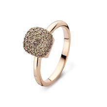 Bigli Bigli ring Mini Sweety 18krt rosegoud met 75 bruine diamanten - 23R156Rbrdia