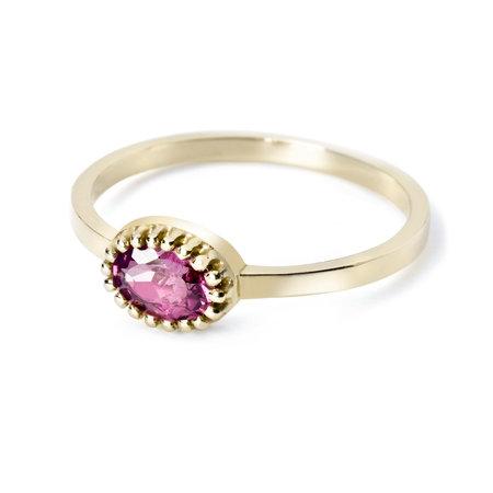 MissSpring Miss Spring Ring MSR510RH-GG 14k Geelgoud met Rhodoliet