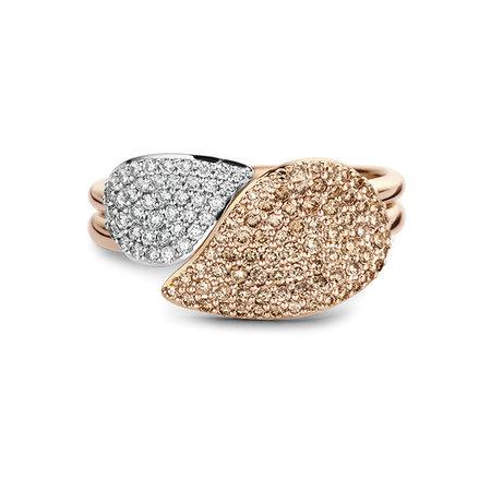 Bigli BIGLI Ring Mini Leaves 18k Roségoud met 0.45ct champagne  diamant 23R190Rbrdia