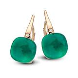 Bigli Bigli oorhangers Mini Sweety 18krt Roségoud met emerald green 20O64Rcsmermp