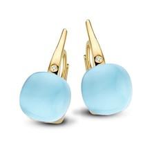 Bigli Bigli oorhangers Mini Sweety 18krt Geelgoud met Eclectic Blue  20O64Ybtmpturch