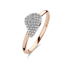 Bigli BIGLI Ring Mini Leaves 18k Roségoud met 0.45ct diamant 23R190RWdia - Copy