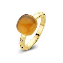 Bigli Bigli Ring Mini Sweety 18krt Roségoud met Madeira Glow-20R88Ymcmp