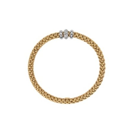 Fope FOPE Armband Solo 18k geelgoud 0.17 ct 653B BBR M G