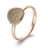 Bigli BIGLI Ring Mini Waves 18k Roségoud met 0.38ct bruine diamant 23R185Rbrdia