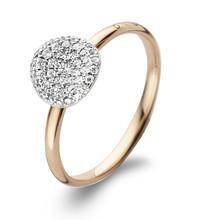 Bigli BIGLI Ring Mini Waves 18k Roségoud met 0.27ct witte diamant-23R184RWdia