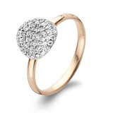 Bigli BIGLI Ring Mini Waves 18k Roségoud met 0.38ct witte diamant-23R185RWdia