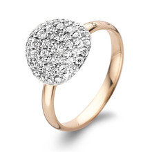 Bigli BIGLI Ring Mini Waves 18k Roségoud met 0.60ct witte diamant-23R186RWdia