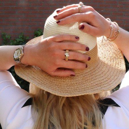 Tirisi Moda TIRISI Armband Amsterdam 18K Witgoud met 0.21ct diamant TB2088D W