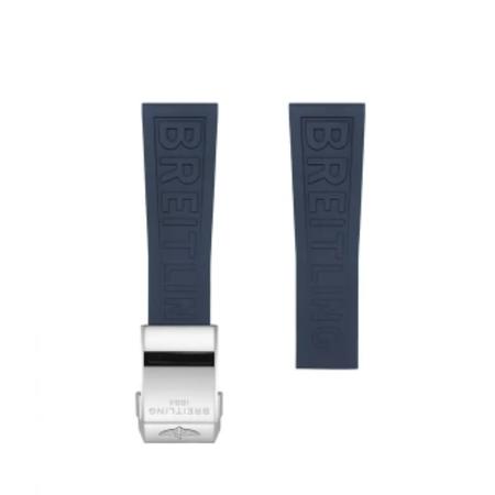 Breitling Breitling horlogeband 20MM blauw rubber voor vouwslot 149S