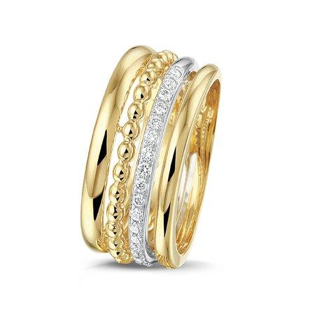 HuisCollectie Huiscollectie Ring 14k Geelgoud met diamant 606166
