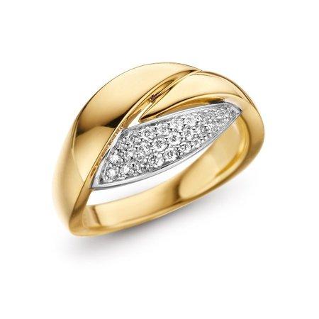 HuisCollectie HuisCollectie Ring 14k geelgoud met diamanten 0.17crt W/SI 602275