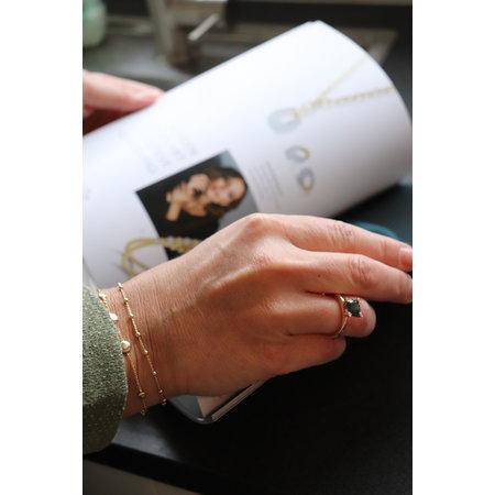Mrs.Janssen Mrs.Janssen Armband 14k geelgoud  Rondjes19cm 606245