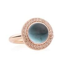 Bron BRON Ring Solar Margarita 18k Roségoud met London Blue Topaas en Champagne diamant 8RR4832TLCBR