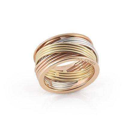 AL CORO AL CORO Serenata Ring 18k Tricolor goud NR234WGR