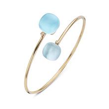 Bigli BIGLI Armband Mini Sweety 18k Roségoud met blauw topaas met parelmoer en turkoois 15 ct bergkristal en witte diamant 0.02 crt